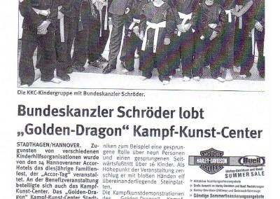 Gerhard Schröder lobt das KKC