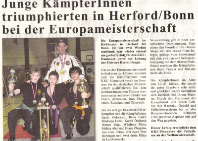 Mehrfache Europameister in Bonn